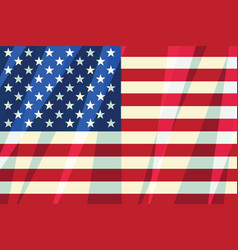 Usa flag stars stripes american symbol of freedom vector