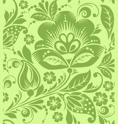 greenery russian floral seamless pattern texture vector image vector image