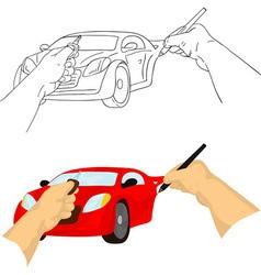 hand drawing car vector image vector image