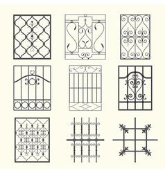Iron window grills vector image