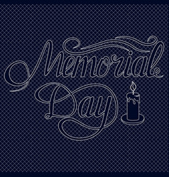 memorial day card with lettering festive vector image