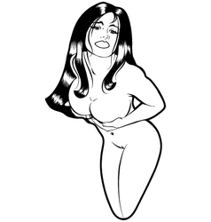 pinup girl vector image