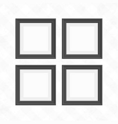 set of black square frames vector image vector image