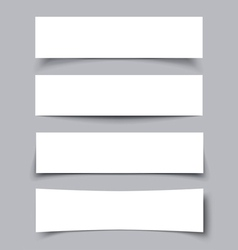 Set of Paper Banners with shadows vector image