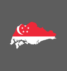 singapore flag and map vector image