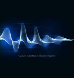 sound wave abstract background audio waveform vector image vector image