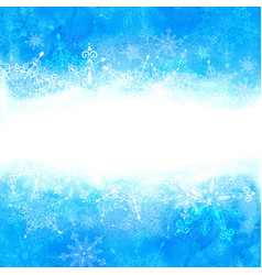 winter background with snowflakes and hand drawn vector image vector image