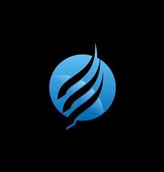 Air flow round technology logo vector