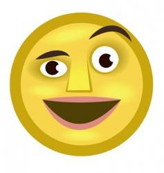 emoticon vector image vector image
