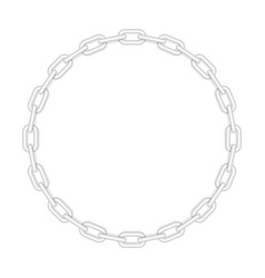 metal round chain vector image vector image