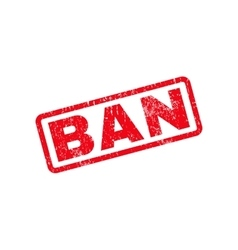 Ban text rubber stamp vector