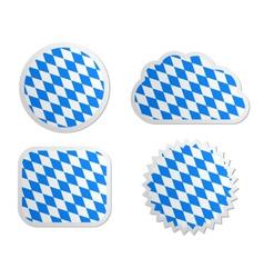 Bavaria flag labels vector image