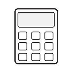 calculator icon on white background calculator vector image