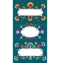 Frame banner with folk pattern vector