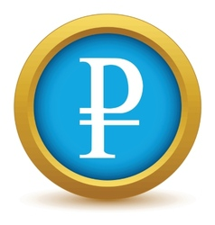 Gold ruble icon vector image