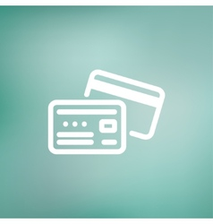 Identification card thin line icon vector image