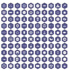 100 logotype icons hexagon purple vector