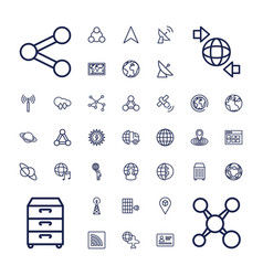 37 global icons vector