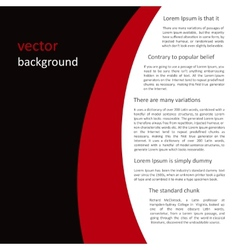 Abstract black-red-white background vector