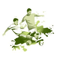 Abstract soccer players vector image