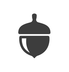 acorn icon simple filled vector image