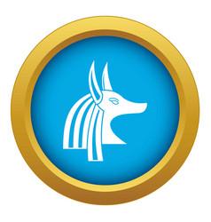 Ancient egyptian god anubis icon blue vector