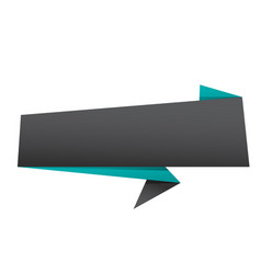 banner black origami style banner template vector image