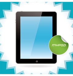Black Glossy Tablet Pad vector