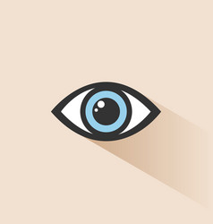 blue human eye icon with shade vector image