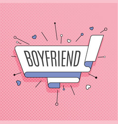 Boyfriend retro design element in pop art style vector