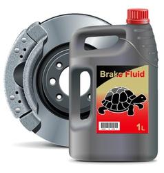 Brake Fluid with Disk Brake vector