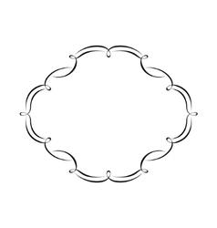 Calligraphy frame vector