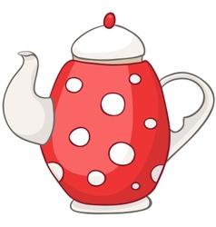 Cartoon home kitchen kettle vector