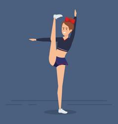 Cheerleader little girl design vector
