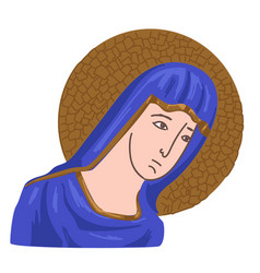 christian icon virgin mary christianity pray vector image