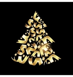 Christmas fir confetty vector