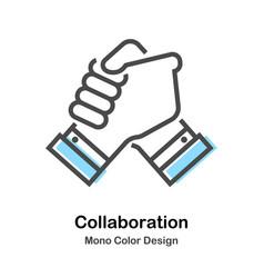 Collaboration mono color vector