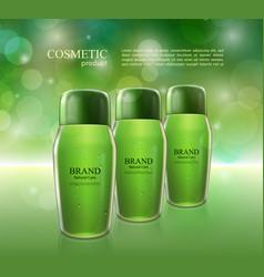 Cosmetic ads poster moisturizing nourishing cream vector