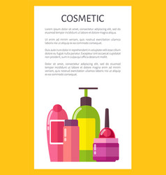 Cosmetic for skincare and hygiene maintenance vector