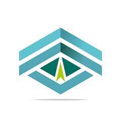 Design element arrow letter v icon symbol vector