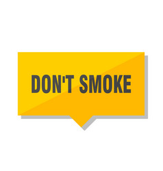 dont smoke price tag vector image