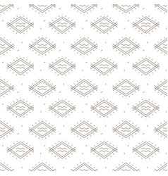 ethnic samless pattern in tribal style vector image