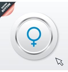 Female sign icon Woman sex button vector image