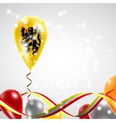 Flag of Flanders on balloon vector