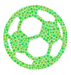 Football ball composition of circles vector