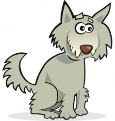 Funny wolf vector