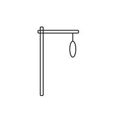 Gallows icon vector