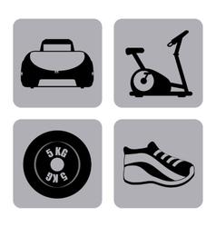 gym label design vector image