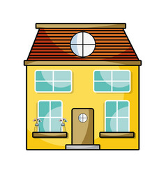 house with two floor to have a good home vector image