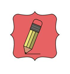 Isolated pencil of school design vector